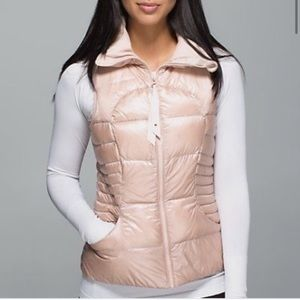 Lululemon Fluffin Awesome rose gold vest